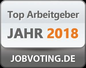 Gewählt zum Top-Arbeitgeber bei Jobvoting.de