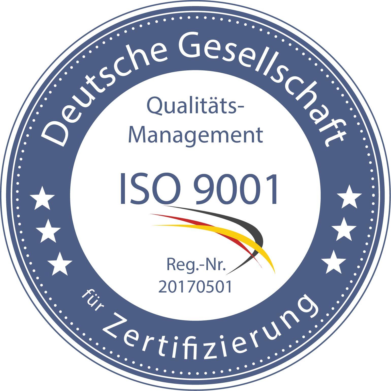 Qualitätsmanagement ISO 9001 - zertifizierte Leistungen