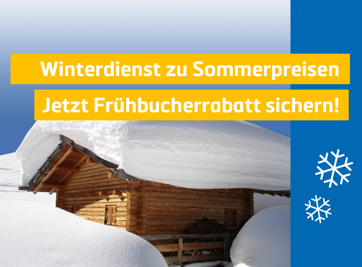 Frühbucherrabatt für Winterdienstbuchungen bis Oktober 2017. Winterdienst Jena durch die PPT-Gruppe.