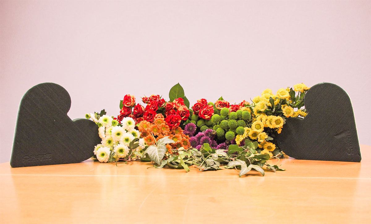 PPT Bürofloristik Blumenbouquet Herzen Valentinstag