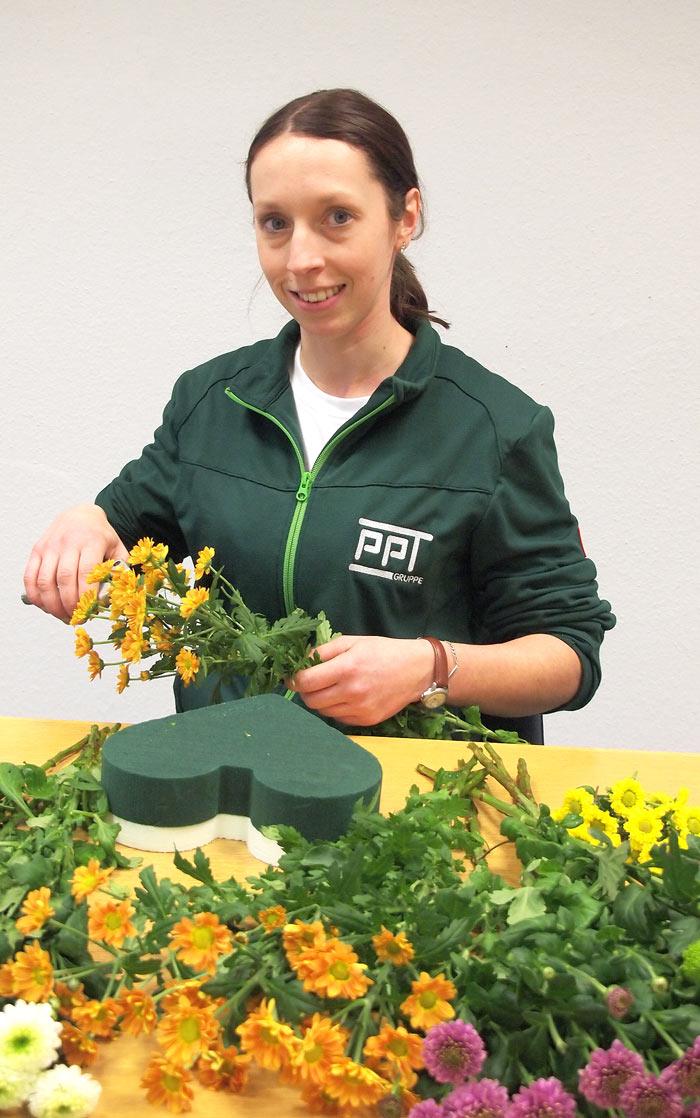Ansehliche Gestecke und dekorative Pflanzschalen - PPT Bürofloristik