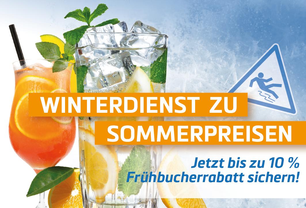 Winterdienst zu Sommerpreisen - Rabatt bis 10 % im Semptember und Oktober